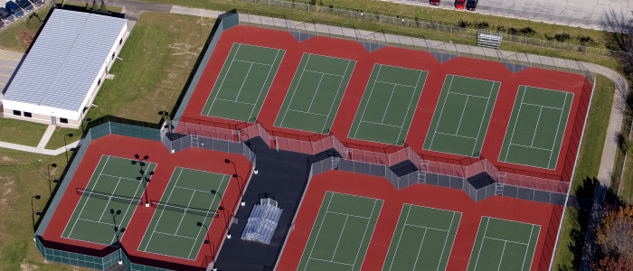 commercial tennis court construction milwaukee