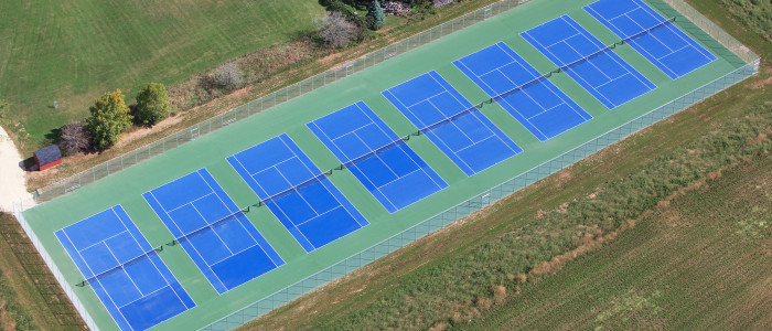 commercial tennis court construction